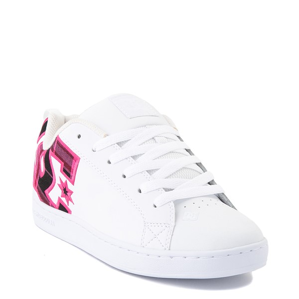 alternate view Womens DC Court Graffik SE Skate Shoe - White / Red / PlaidALT5