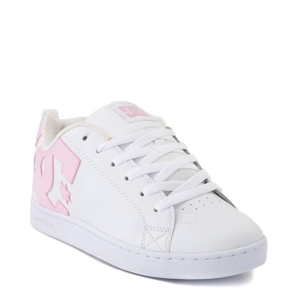alternate view Womens DC Court Graffik Skate Shoe - White / PinkALT1