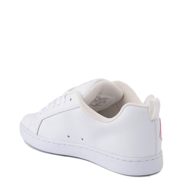 alternate view Womens DC Court Graffik Skate Shoe - White / PinkALT2