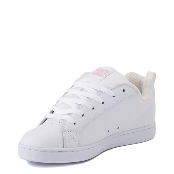 alternate view Womens DC Court Graffik Skate Shoe - White / PinkALT3