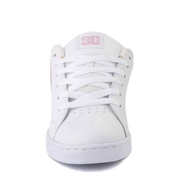 alternate view Womens DC Court Graffik Skate Shoe - White / PinkALT4