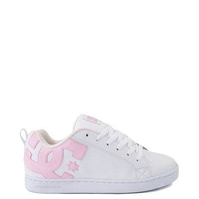 Main view of Womens DC Court Graffik Skate Shoe - White / Pink