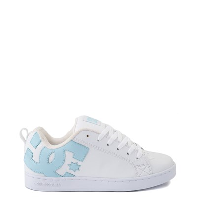 Main view of Womens DC Court Graffik SE Skate Shoe - White / Light Blue