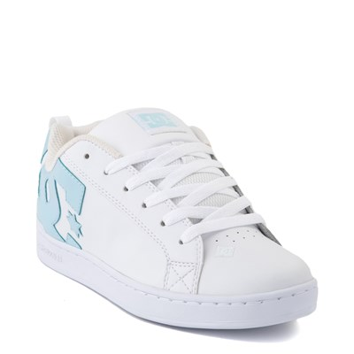 Alternate view of Womens DC Court Graffik SE Skate Shoe - White / Light Blue