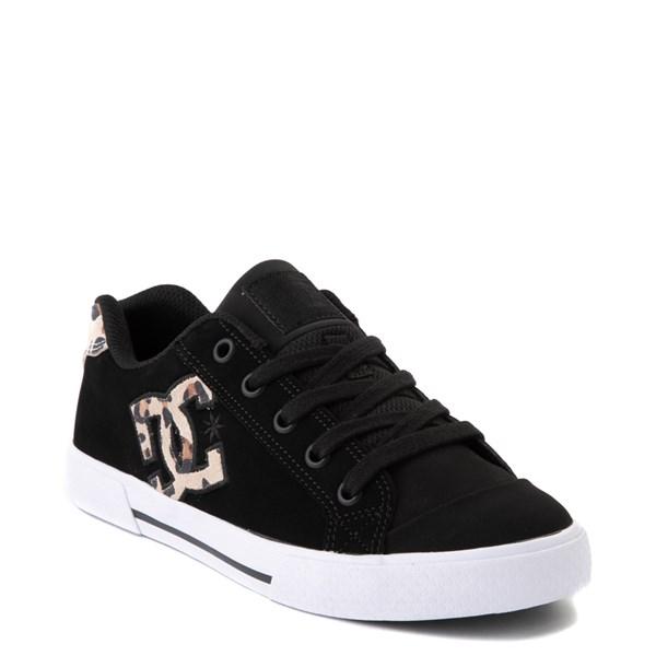 alternate view Womens DC Chelsea SE Skate Shoe - Black / LeopardALT1