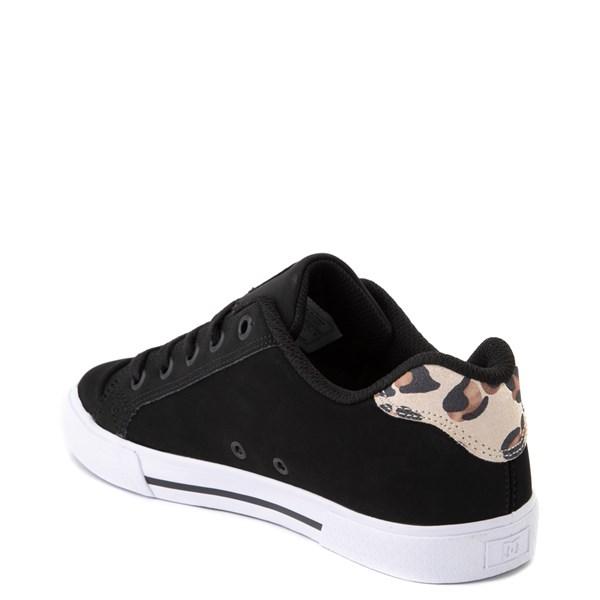 alternate view Womens DC Chelsea SE Skate Shoe - Black / LeopardALT2