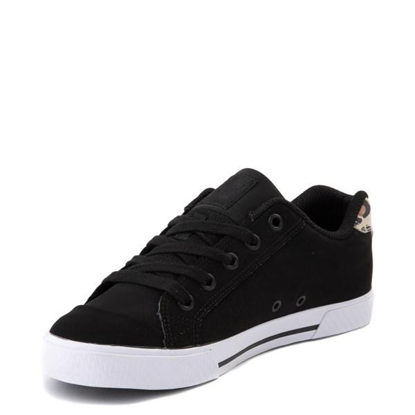 alternate view Womens DC Chelsea SE Skate Shoe - Black / LeopardALT3