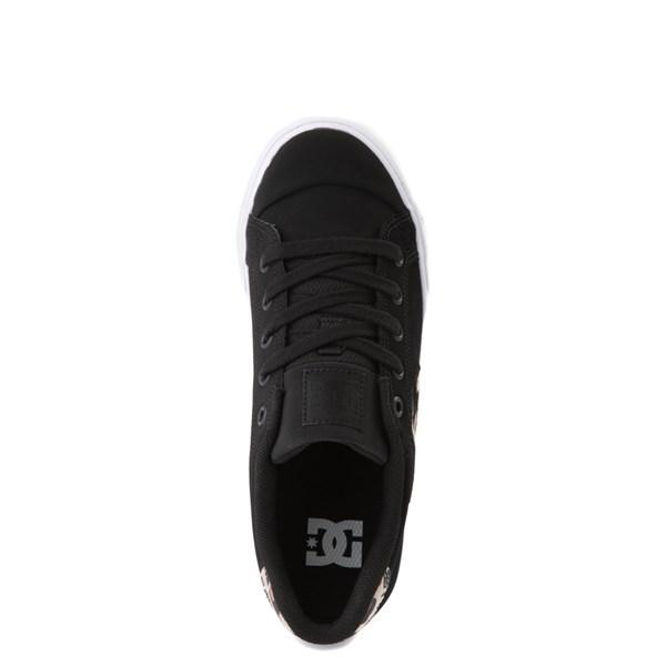 alternate view Womens DC Chelsea SE Skate Shoe - Black / LeopardALT4B