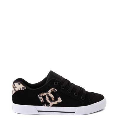 Main view of Womens DC Chelsea SE Skate Shoe - Black / Leopard