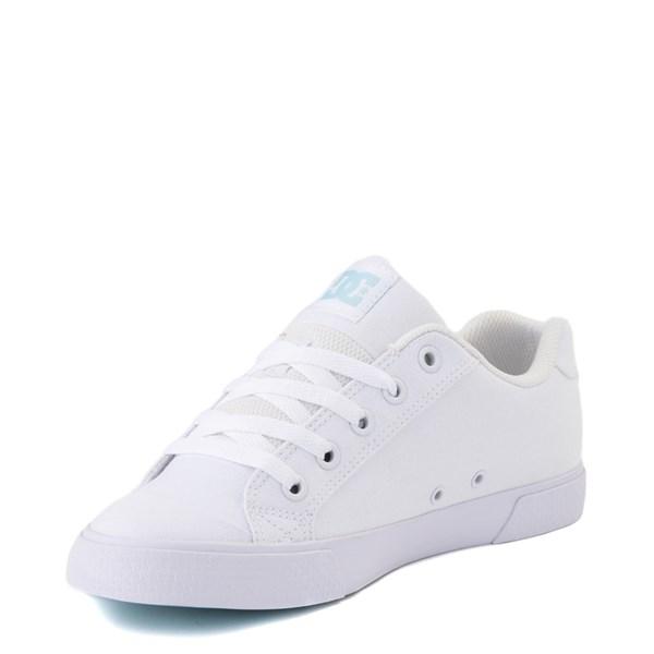 alternate view Womens DC Chelsea TX Skate Shoe - White / Blue JayALT3