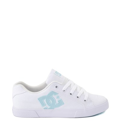 Main view of Womens DC Chelsea TX Skate Shoe - White / Blue Jay