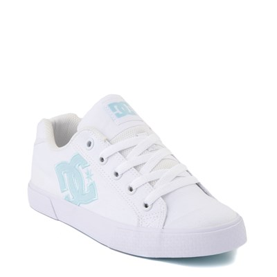 Alternate view of Womens DC Chelsea TX Skate Shoe - White / Blue Jay