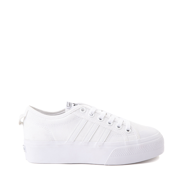 Main view of Womens adidas Nizza Platform Athletic Shoe - White