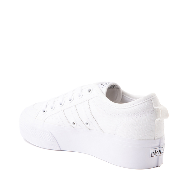 alternate view Womens adidas Nizza Platform Athletic Shoe - WhiteALT1