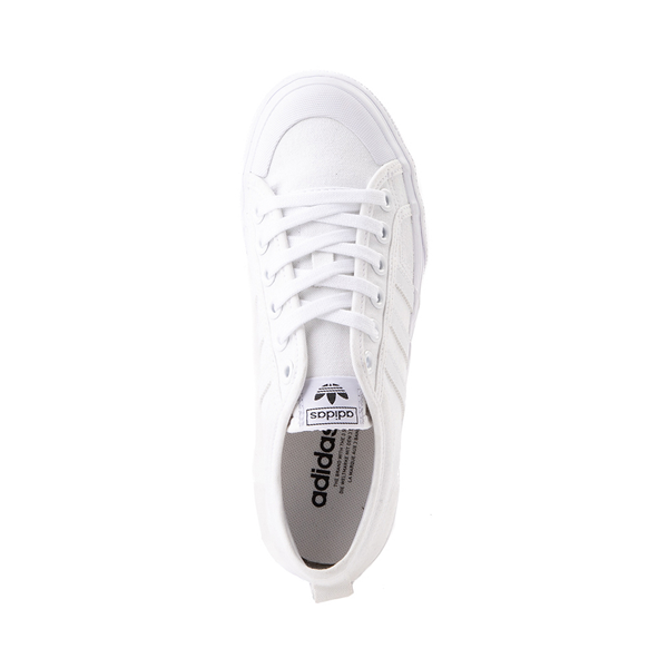 alternate view Womens adidas Nizza Platform Athletic Shoe - WhiteALT2