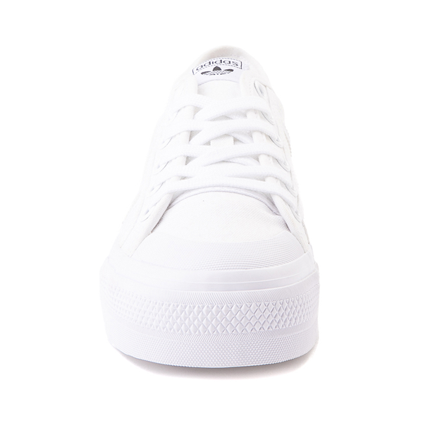 alternate view Womens adidas Nizza Platform Athletic Shoe - WhiteALT4