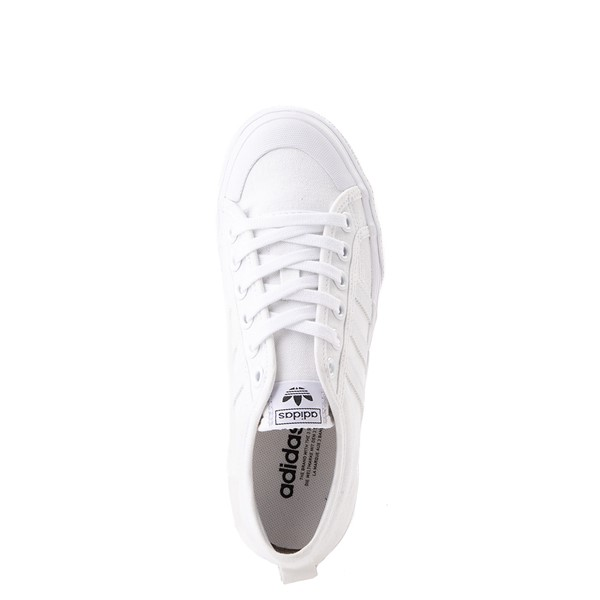alternate view Womens adidas Nizza Platform Athletic Shoe - WhiteALT4B