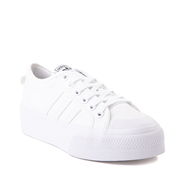 alternate view Womens adidas Nizza Platform Athletic Shoe - WhiteALT5