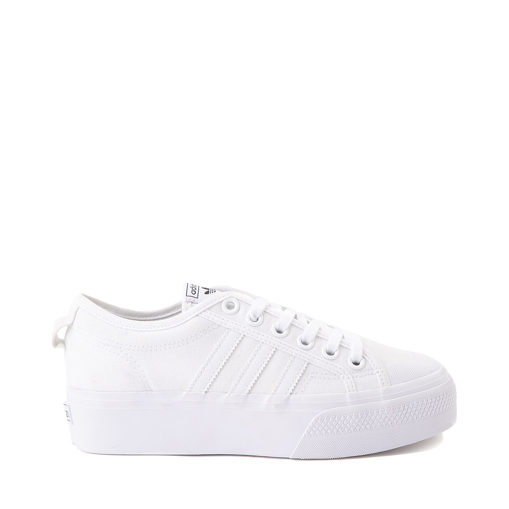 Womens adidas Nizza Platform Athletic Shoe - White
