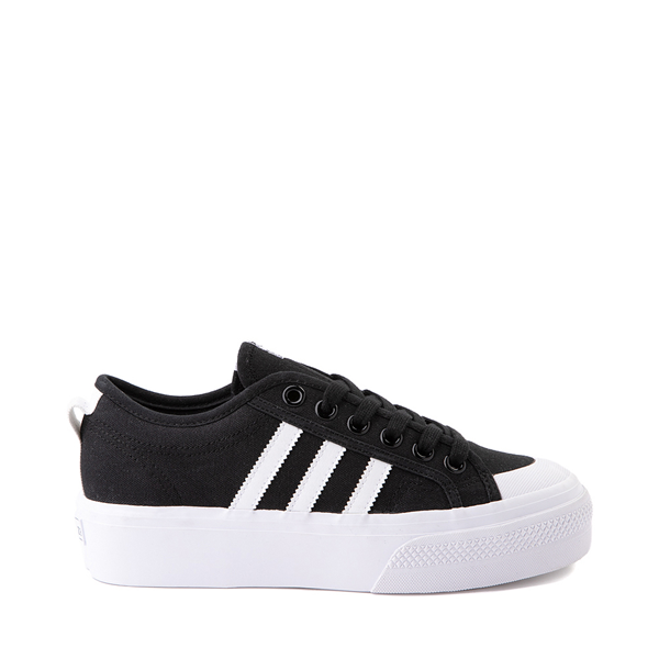 Main view of Womens adidas Nizza Platform Athletic Shoe - Black