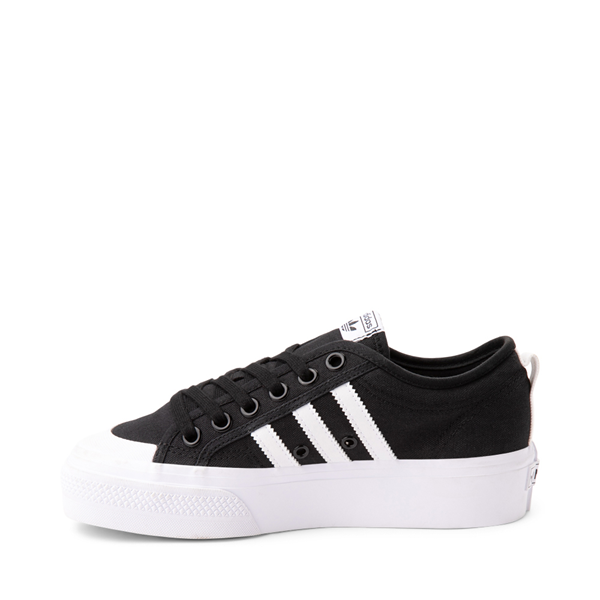 alternate view Womens adidas Nizza Platform Athletic Shoe - BlackALT1