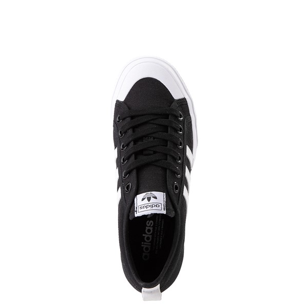 alternate view Womens adidas Nizza Platform Athletic Shoe - BlackALT4B
