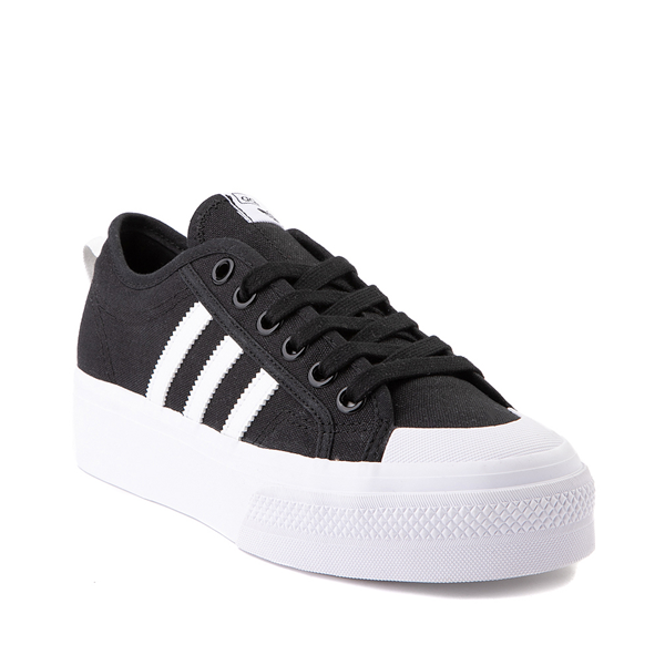 alternate view Womens adidas Nizza Platform Athletic Shoe - BlackALT5