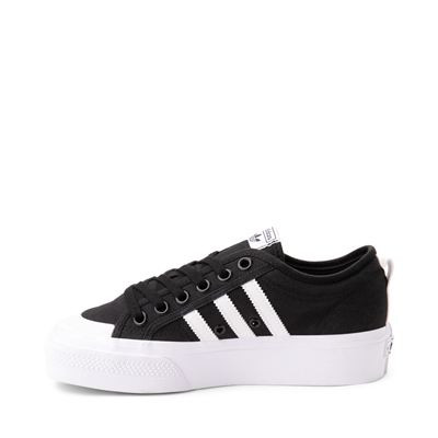 Alternate view of Womens adidas Nizza Platform Athletic Shoe - Black