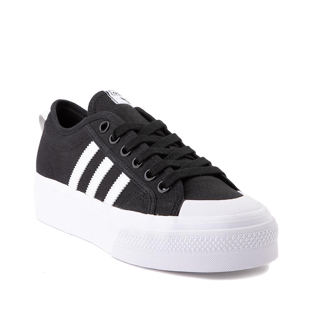 Womens adidas Nizza Platform Athletic Shoe - Black