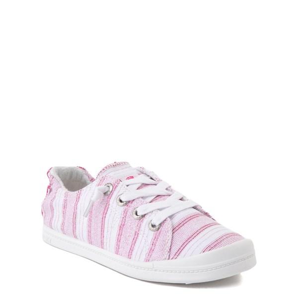 alternate view Roxy Bayshore Casual Shoe - Little Kid / Big Kid - White / PinkALT1