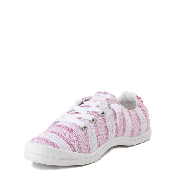 alternate view Roxy Bayshore Casual Shoe - Little Kid / Big Kid - White / PinkALT3