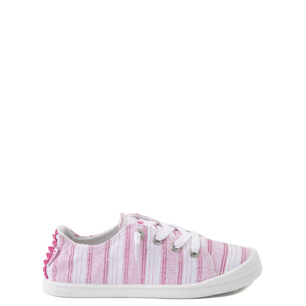 Roxy Bayshore Casual Shoe - Little Kid / Big Kid - White / Pink