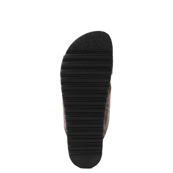 alternate view Womens Dirty Laundry Push It Platform Sandal - Coffee SnakeskinALT5
