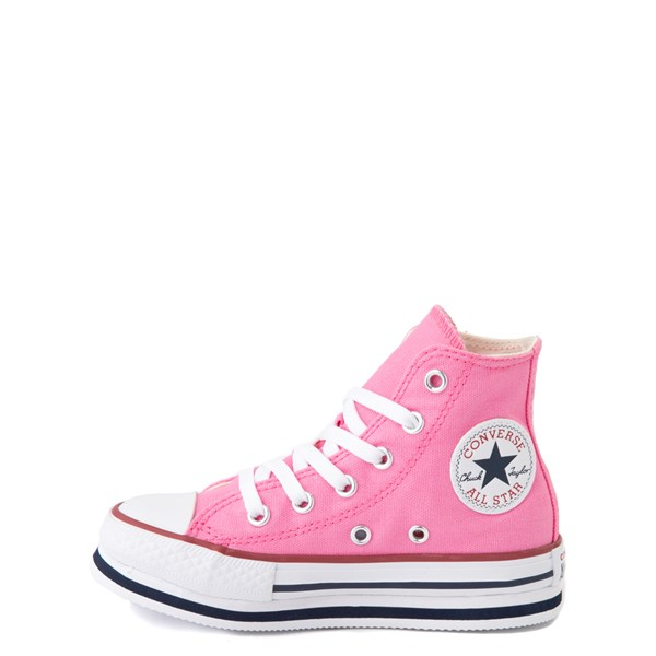 alternate view Converse Chuck Taylor All Star Hi Platform Sneaker - Little Kid / Big Kid - PinkALT1