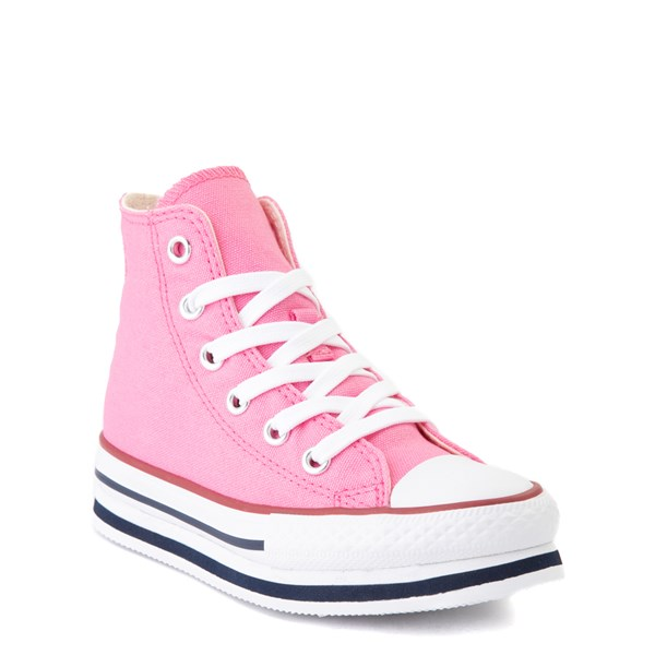 alternate view Converse Chuck Taylor All Star Hi Platform Sneaker - Little Kid / Big Kid - PinkALT1B