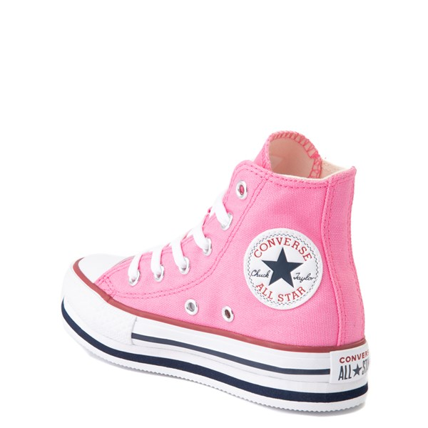 alternate view Converse Chuck Taylor All Star Hi Platform Sneaker - Little Kid / Big Kid - PinkALT2