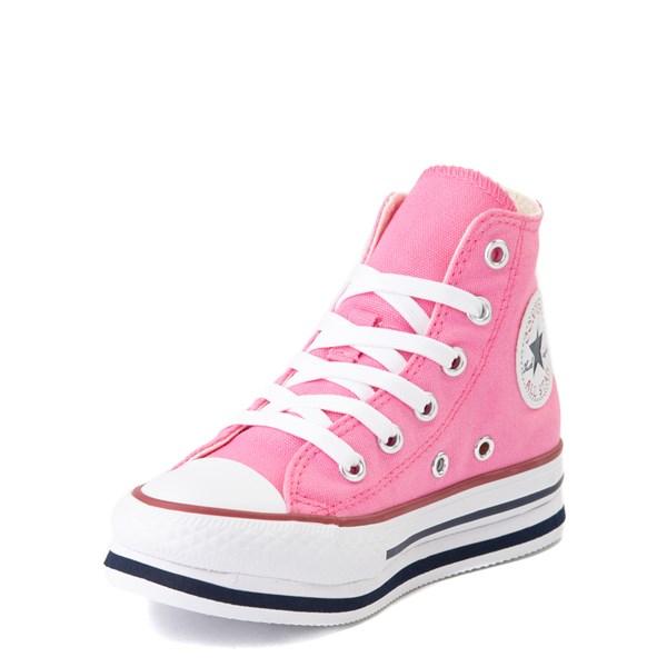 alternate view Converse Chuck Taylor All Star Hi Platform Sneaker - Little Kid / Big Kid - PinkALT3