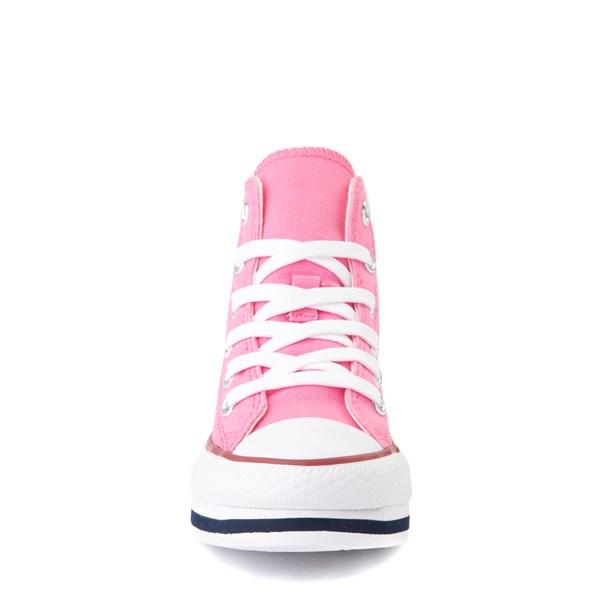 alternate view Converse Chuck Taylor All Star Hi Platform Sneaker - Little Kid / Big Kid - PinkALT4