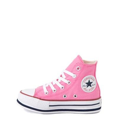 Alternate view of Converse Chuck Taylor All Star Hi Platform Sneaker - Little Kid / Big Kid - Pink