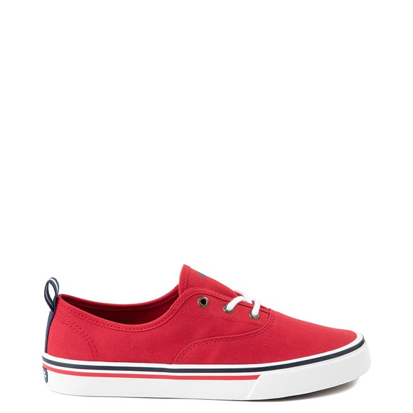 Womens Sperry Top-Sider Crest Striper Casual Shoe - Red