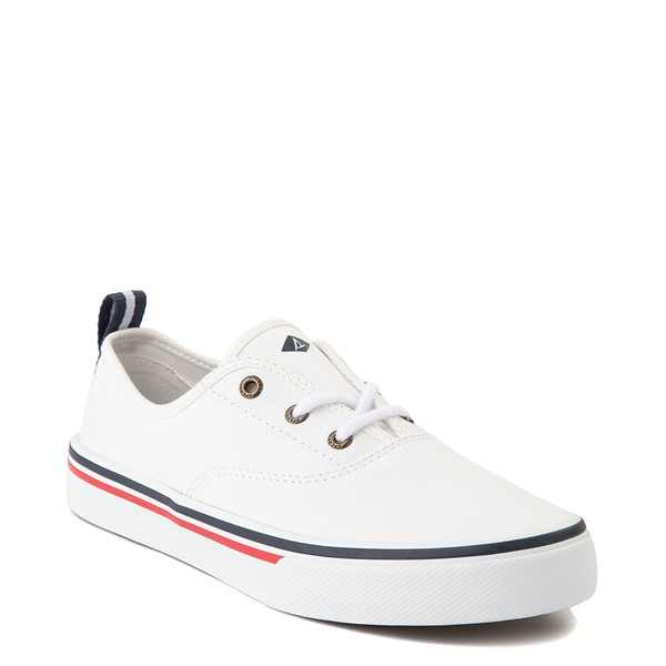 alternate view Womens Sperry Top-Sider Crest Striper Casual Shoe - WhiteALT5