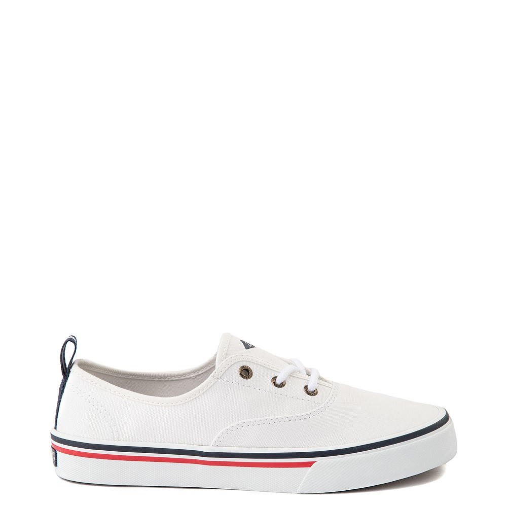 Womens Sperry Top-Sider Crest Striper Casual Shoe - White