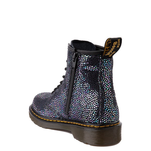 alternate view Dr. Martens 1460 8-Eye Metallic Spot Boot - Little Kid / Big Kid - BlackALT1