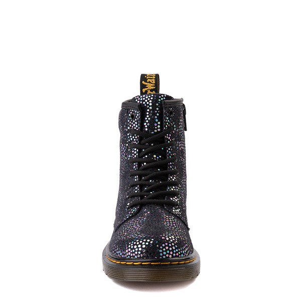 alternate view Dr. Martens 1460 8-Eye Metallic Spot Boot - Little Kid / Big Kid - BlackALT4