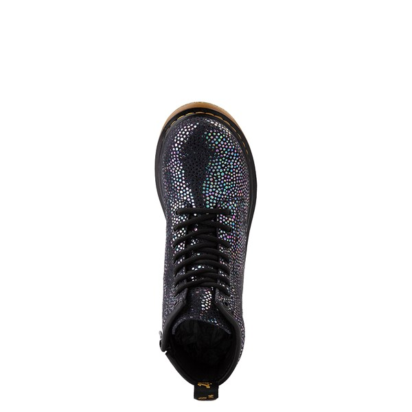 alternate view Dr. Martens 1460 8-Eye Metallic Spot Boot - Little Kid / Big Kid - BlackALT4B