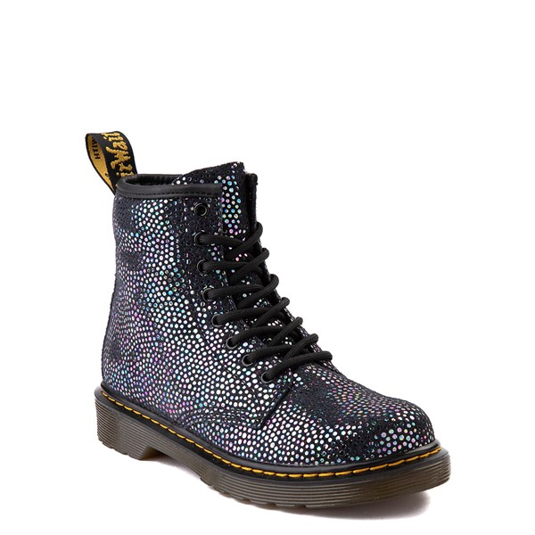 alternate view Dr. Martens 1460 8-Eye Metallic Spot Boot - Little Kid / Big Kid - BlackALT5