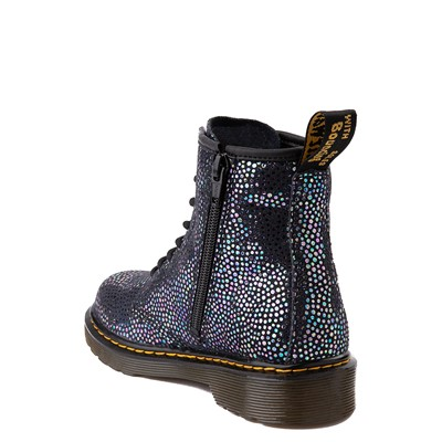 Alternate view of Dr. Martens 1460 8-Eye Metallic Spot Boot - Little Kid / Big Kid - Black
