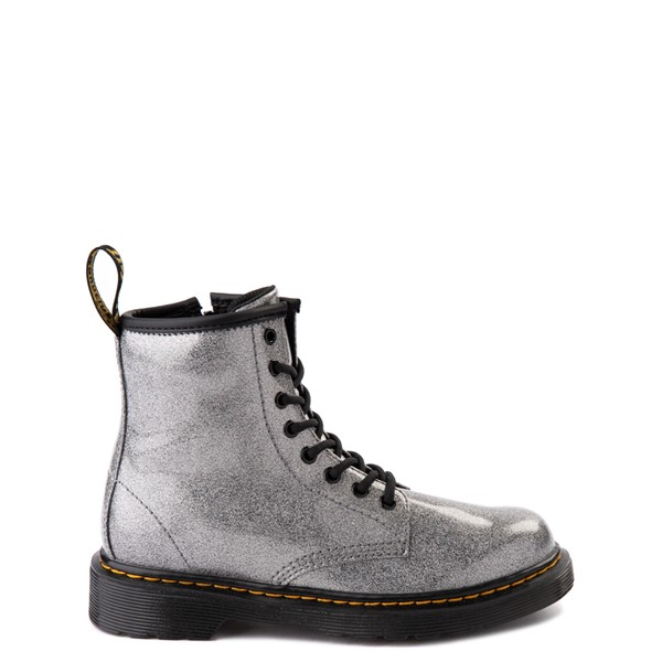 Main view of Dr. Martens 1460 8-Eye Glitter Boot - Little Kid / Big Kid - Gunmetal Gray