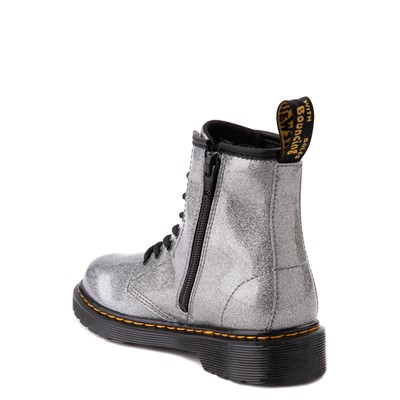 Alternate view of Dr. Martens 1460 8-Eye Glitter Boot - Little Kid / Big Kid - Gunmetal Gray