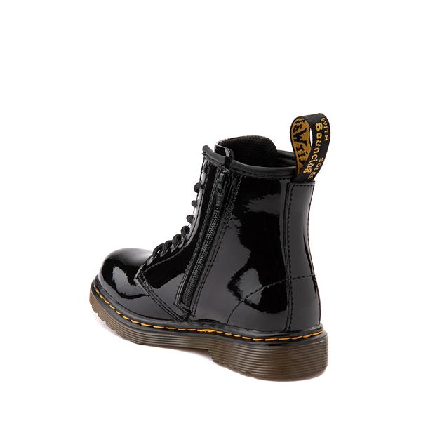 alternate view Dr. Martens 1460 8-Eye Patent Boot - Toddler - BlackALT1